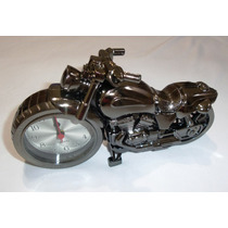 Relógio De Mesa Moto 22cm Detalhado Novo No Leilao *