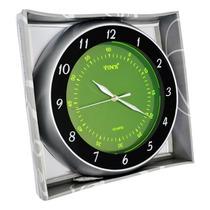 Relógio De Parede Redondo Fluorescente