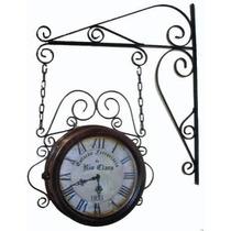 Relógio Antigo Estação Ferroviária 24cm - Artesanal
