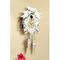 5378 - Relógio De Parede Cuco Branco 1 Ano Garantia Herweg