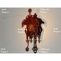 Relogio De Parede Cuco Tictac Pendulo Ativo-ponteiro Dourado