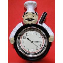 Relogio Mestre Cuca Bon Appetit Gourmet Cozinha Fogão Frigo