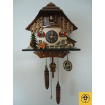 Relógio Cuco Chalé Temático Musical A Pilha Alemanha 403qm