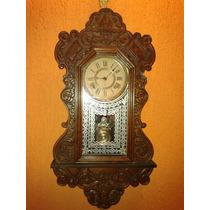 Raríssimo Relógio Ansonia Artic Silver Clock - New York/1896