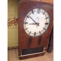 Antigo Relógio De Parede Transistora Pêndulo - Frete Grátis