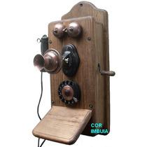 Telefone Antigo Papai - Artesanal