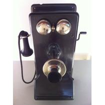Telefone Antigo Kellogg Magneto Com Manivela Oiriginal E U A