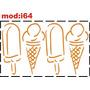 Adesivo I64 Sorvete Alimentos Picolé Sorvete De Casquinha