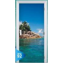 Adesivo 123 Porta Quarto Sala Mar Ilha Oceano Praia 92