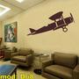 Adesivo D68 Avião 14 Bis Personalizado Grande 2x1m