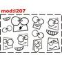 Adesivo I207 Caretas Quarto Menino Menina Adesivo Infantil