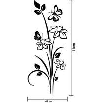 Adesivo De Parede Floral Decorativo P/ Vidro Janela Porta