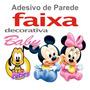 Adesivo Parede Border Infantil Baby Disney Mickey Minnie