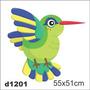 Adesivo D1201 Beija-flor Parede Desenho Decorativo Quarto