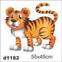Adesivo D1182 Tigre Cartoon Decorativo Intantil Quarto