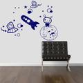 Adesivo Decorativo Parede Quarto Infantil Espaço Lua Foguete