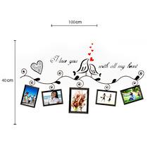 Adesivo Decorativo De Parede Pássaros E Amor - I Love You