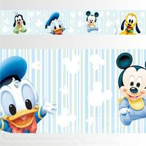 Adesivo 123 Faixa Border Infantil Mickey Baby 05 Un Mod 340