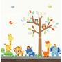 Adesivo Infantil Arvore Bebe Safari Decorativo Coruja Zoo 57