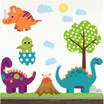 Adesivo Quarto Bebe Dinossauro Zoo Safari Decorativo Parede