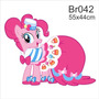 Adesivo Parede Menina My Little Poney Pony Pinky Pie Br042
