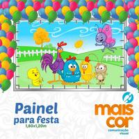 Painel Decorativo Festa Infantil Lona Banner Patati Carros