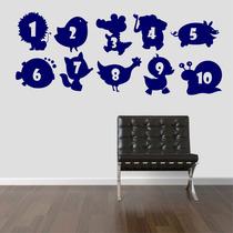 Adesivo Decorativo Parede Quarto Infantil Números Animais