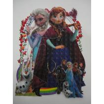 Adesivo/painel De Parede Do Filme Frozen- Em 3d- P. Entrega