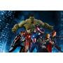 Papel De Parede Auto Adesivo Decoração Vingadores Marvel 8m2