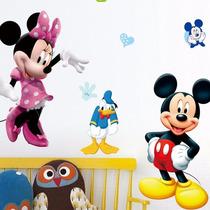 Adesivo Papel De Parede Mickey, Minnie, Donald E Pluto