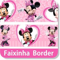 Faixa Border Decorativa Minnie Rosa Vermelha Papel Parede