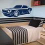 Adesivo Decorativo Parede Infantil Carro Mustang Rebaixado