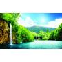 Papel De Parede Autoadesivo Cachoeira Paisagem Natureza 2mt2