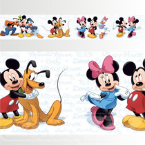 Adesivo 123 Faixa Border Mickey Minnie 05 Un Mod 276