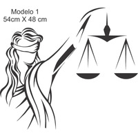Adesivo De Parede Justiça Balança Escritorio De Advocacia