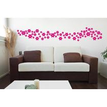 Adesivos Decorativo De Parede Kit 70 Flores- Carro, Casa Box