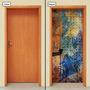 Adesivo Decorativo De Porta - Pintura - Abstrato - 035mlpt
