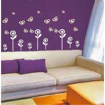 Adesivo Decorativo De Parede - Kit Flores E Borboletas