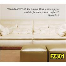Adesivo Decorativo De Parede Frases Bíblicas Fz301