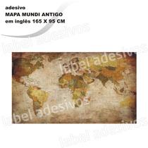 Adesivo De Parede Autocolante Mapa Mundi Antigo Rln123