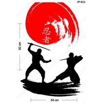 Adesivo De Parede Decorativo Luta Samurai Decore Sua Casa