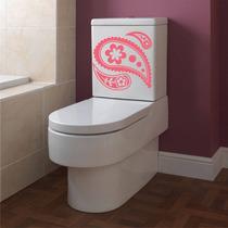 Adesivo Decorativo Parede Banheiro Caixa Vaso Sanitário Flor