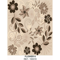 Papel Parede Vinil Adesivo Floral 6 - 45 Cm X 15 Mts