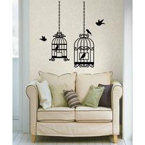 Adesivo Decorativo Parede Gaiolas Com Pássaros Tamanho Médio