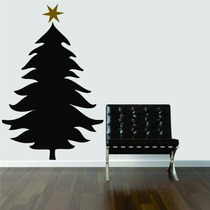 Adesivo Decorativo Parede Sala Árvore De Natal Estrela