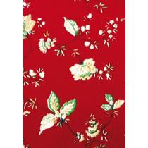 Papel Adesivo Pvc Floral Vermelho 45 Cm X 10 Metros 91300