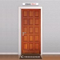 Adesivo Porta Textura Madeira Estilo Mod Pex01