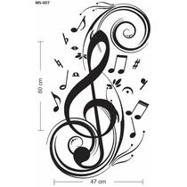 Adesivo De Parede Decorativo Nota Musical Extra Grande Lindo