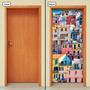 Adesivo Decorativo De Porta - Casas - Favela - 026mlpt