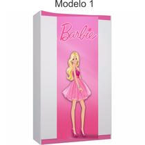 Adesivo Infantil Barbie - Quartos - Guarda Roupas